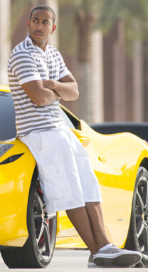 Fast & Furious 7 – Heißer Schlitten – Tej Parker – Shorts