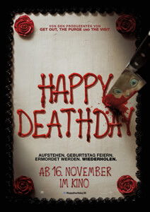 Outfits aus dem Film Happy Deathday - Filmplakat
