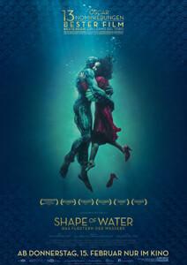 Outfits aus Shape of Water - Das Flüstern des Wassesrs - Filmplakat